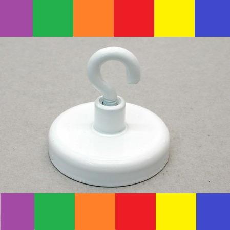 Magnetkroge i stål - farvet