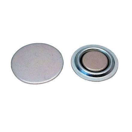 Navneskilt med magnet / rund